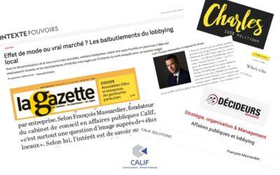 CALIF, cabinet reconnu comme expert du lobbying territorial